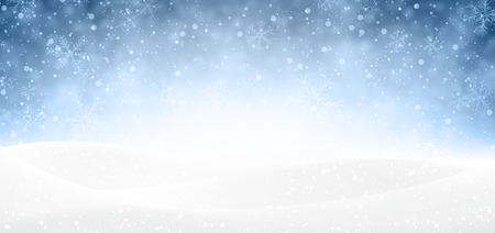 Illustration pour Winter banner with snow - image libre de droit