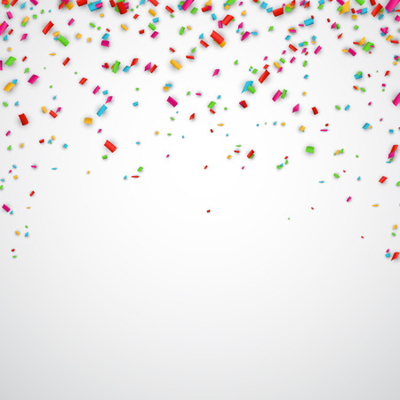 Illustration for Colorful celebration background with confetti. Vector Illustration. - Royalty Free Image