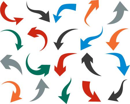 Ilustración de illustration of curved color arrow icons. - Imagen libre de derechos