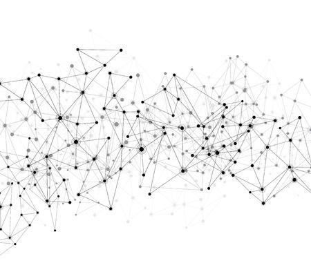 Ilustración de Communication social mesh. Network polygonal background. Vector illustration. - Imagen libre de derechos