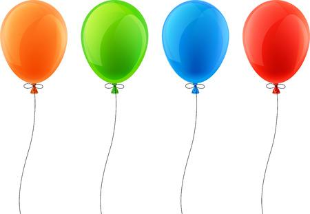 Illustration pour Set of colorful celebration balloons. Vector illustration. - image libre de droit