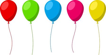 Illustration pour Set of flat celebration balloons. Vector illustration. - image libre de droit