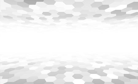 Illustration pour Perspective grid hexagonal surface. Vector illustration. - image libre de droit