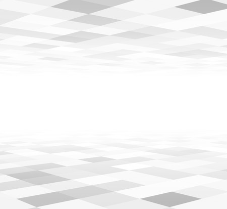 Foto de Perspective grey and white grid. Checkered surface. Vector illustration. - Imagen libre de derechos