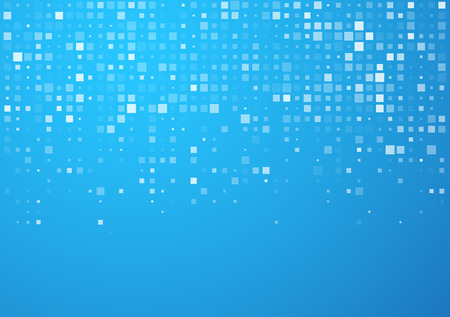 Ilustración de Technology pattern composed of blue squares. Vector background. - Imagen libre de derechos