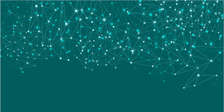 Illustration pour Green social network mesh. Communication polygonal background. Vector illustration. - image libre de droit