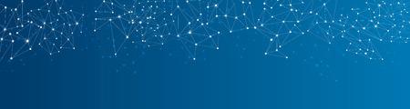 Illustration pour Blue social network mesh. Communication polygonal background. Vector illustration. - image libre de droit