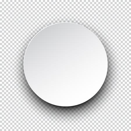 Illustration pour Vector illustration of white paper round speech bubble with shadow.  - image libre de droit