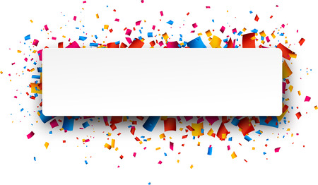 Ilustración de Colorful rightabout celebration background with confetti. Vector Illustration. - Imagen libre de derechos