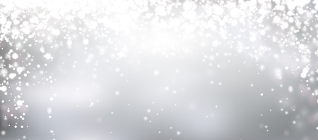 Illustration pour Silver winter abstract background. Christmas background with snowflakes and place for text. Vector. - image libre de droit