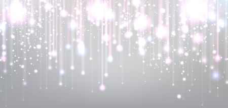 Illustration for Christmas blurred background with lights. Vector Illustration. - Royalty Free Image