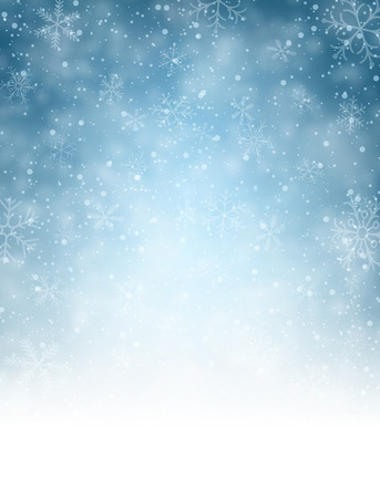 Illustration pour Christmas blurred background with snowflakes. Vector Illustration. - image libre de droit