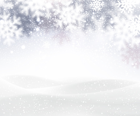 Illustration pour Winter background with snowflakes - image libre de droit