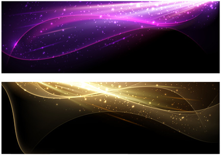 Ilustración de Abstract background set with colour waves pattern. Vector illustration. - Imagen libre de derechos