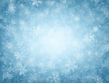 Illustration for Winter blue background with snowflakes. - Royalty Free Image