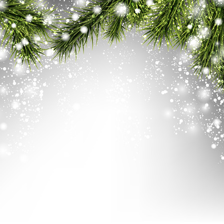 Illustration pour Winter xmas background with fir branches. - image libre de droit