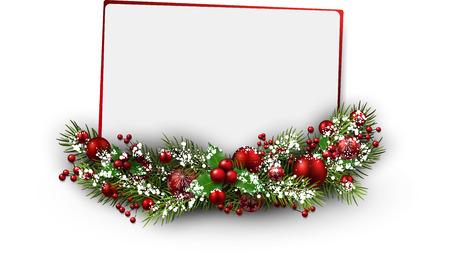 Illustration pour Christmas card with fir branch. Vector illustration. - image libre de droit