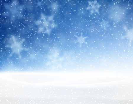Illustration pour Winter blue background with snowflakes. Vector illustration. - image libre de droit