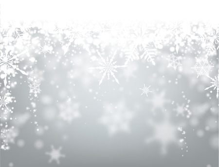 Illustration for Winter background with snowflakes. Vector paper illustration. - Royalty Free Image