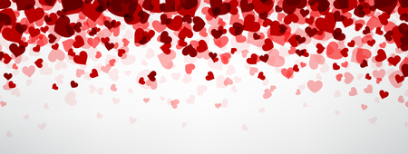 Ilustración de Romantic background with hearts. Vector paper illustration. - Imagen libre de derechos