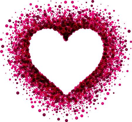 Illustration pour Valentine's love background with pink heart. Vector paper illustration. - image libre de droit