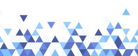 Illustration pour White graphic background with blue triangles. Vector paper illustration. - image libre de droit