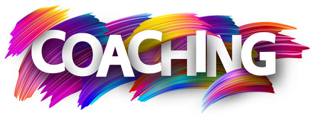 Illustration pour Coaching card. Colorful brush design. Vector background. - image libre de droit