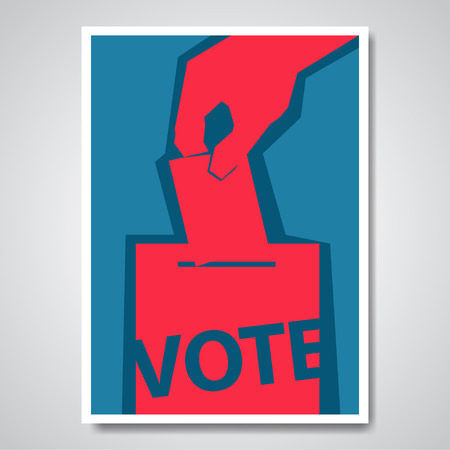 Illustration pour Vector vote election cover design template - image libre de droit