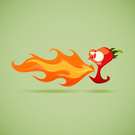 Illustration pour Very Hot Chilli Pepper. EPS 10 file - image libre de droit