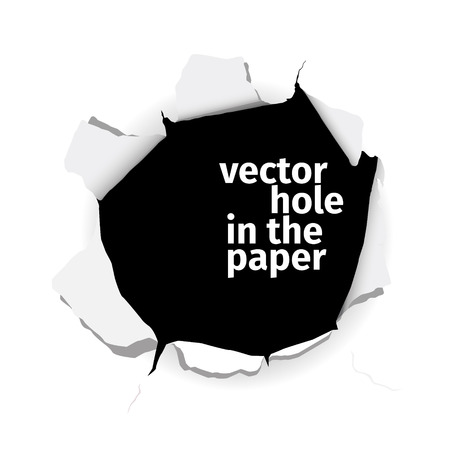 Illustration pour Vector hole in the paper isolated on white background. EPS 10 file. - image libre de droit