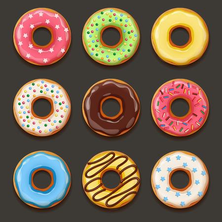 Illustration pour Set of tasty donuts. EPS 10 file - image libre de droit