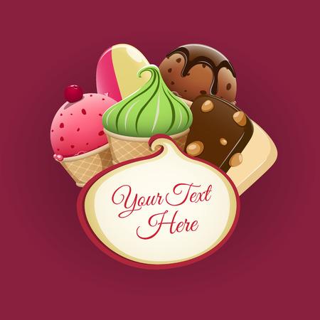Illustration for Ice cream background. EPS 10 file - Royalty Free Image