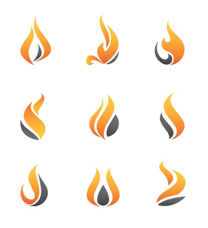 Illustration for Fire icons - Royalty Free Image