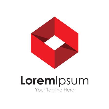 Illustration pour Red ribbon symbol sophisticated business element icon  - image libre de droit