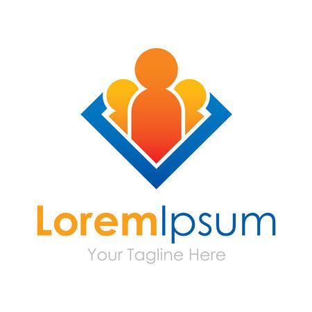 Illustration pour Human leader group future element icons business - image libre de droit