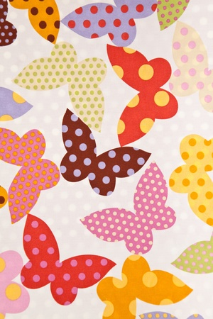Butterfly. Fabric wallpaper background.