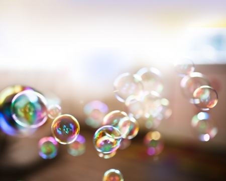 Photo for Soap bubbles, abstract background - Royalty Free Image