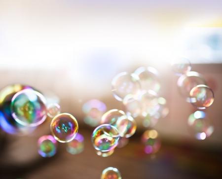 Foto de Soap bubbles, abstract background - Imagen libre de derechos