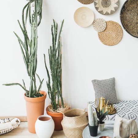 Foto de Modern minimal Scandinavian home interior design. - Imagen libre de derechos