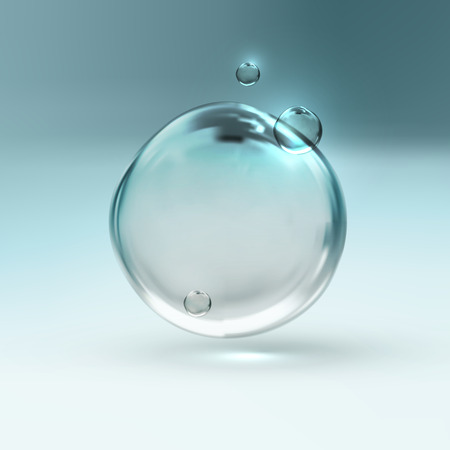 vector illustration of transparent fresh shiny water bubbles