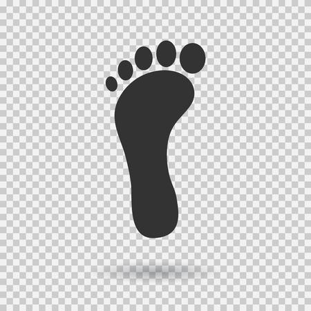 Ilustración de Footstep icon. Vector footprint. Flat style. Illustration with shadown on transparent background. - Imagen libre de derechos