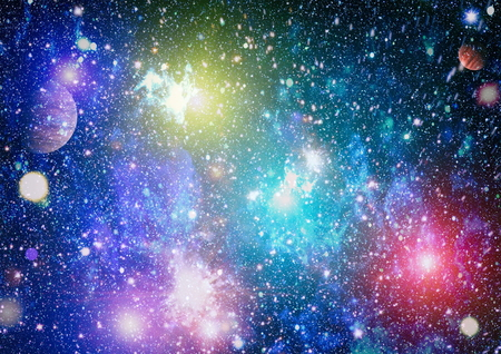 Photo for Small part of an infinite star field of space in the Universe. - Royalty Free Image