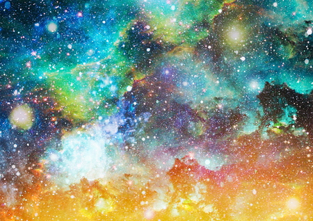 Photo for Futuristic abstract space background. Night sky with stars and nebula. - Royalty Free Image