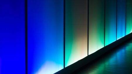 Photo for Colorful reflection of the lighting wall background - Royalty Free Image