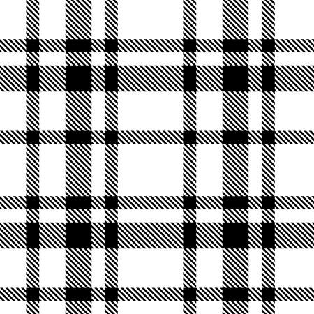 Illustration pour Vector Seamless Tartan Monochrome Pattern - image libre de droit