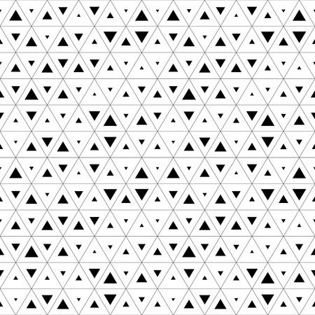 Illustration pour Seamless Triangle Pattern. Abstract Monochrome Background. Vector Regular Texture - image libre de droit