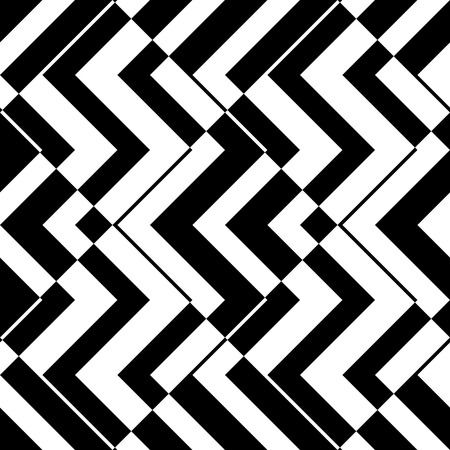 Illustration pour Seamless ZigZag Pattern. Abstract  Monochrome Background. Vector Regular Texture - image libre de droit