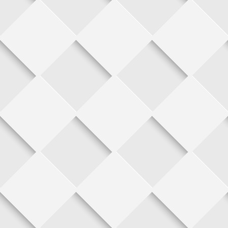 Illustration pour Seamless Square Pattern. Vector Soft Background. Regular White Texture - image libre de droit