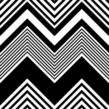Ilustración de Seamless ZigZag Pattern. Abstract  Black and White Background. Vector Regular Texture - Imagen libre de derechos