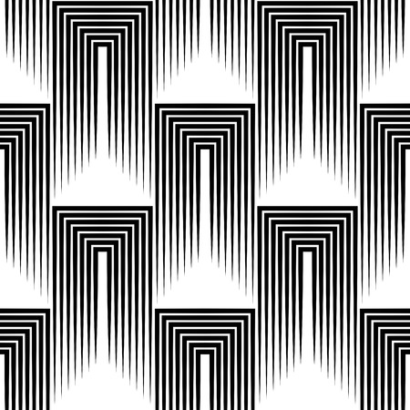 Illustration pour Seamless Square and Stripe Pattern. Abstract Monochrome Background. Vector Regular Texture - image libre de droit